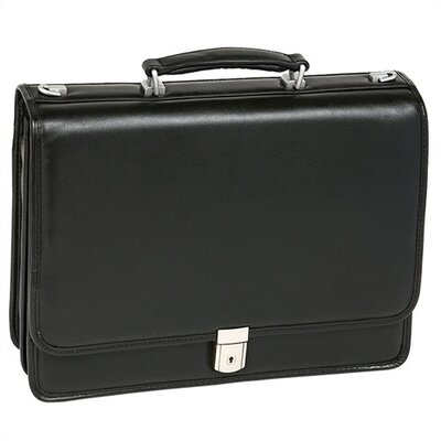 I Series Bucktown Leather Briefcase in Black