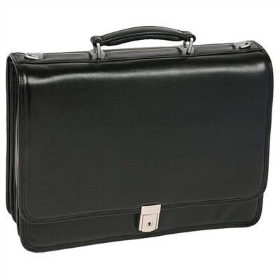 I Series River North Leather Briefcase in Black