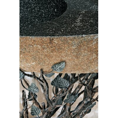 Quiescence Organic Suites Embracious Aspen Forest Iron Pedestal Bathroom Sink