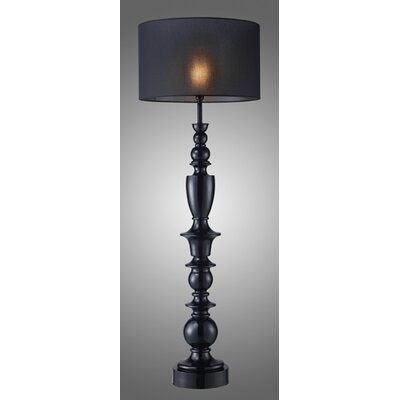 Dimond Lighting Trump Home Soho Floor Lamp in Gloss Black