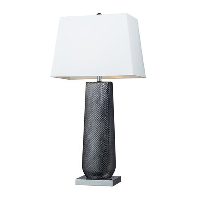 Dimond Lighting Milan One Light Table Lamp in Black Pearl and Chrome