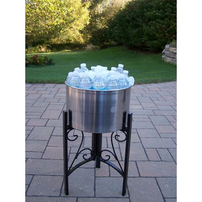 Oakland Living Stainless Steel Ice Bucket with Stand