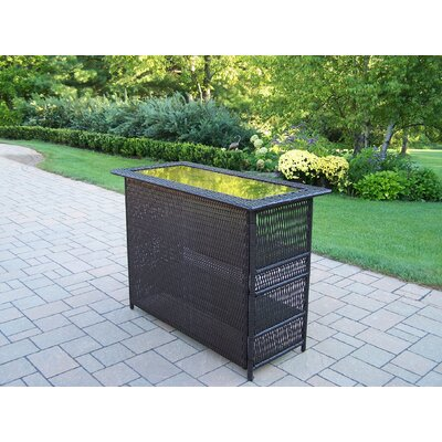 Oakland Living Elite Resin Wicker Bar Table