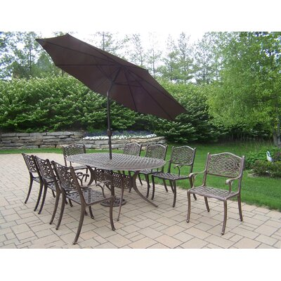 Oakland Living Mississippi Dining Set with Umbrella