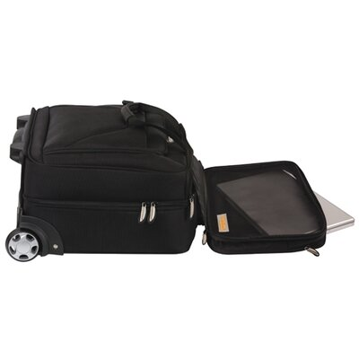 Travelon Quick Pass Check Point Friendly Two Compartment Wheeled Computer Case