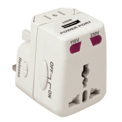 Electronics Worldwide Adapter and USB Charger
