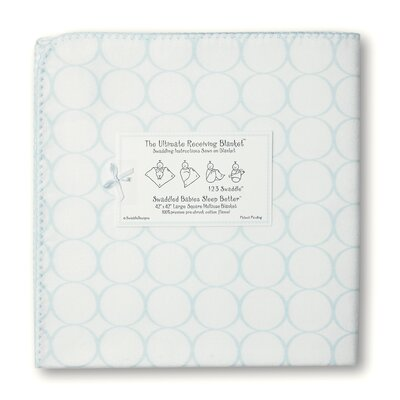 Swaddle Designs Ultimate Receiving Blanket® in Pastel Mod Circles on White