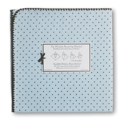 Swaddle Designs Ultimate Receiving Blanket® in Pastel with Brown Polka Dots