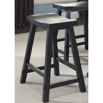 Creations II Casual Dining Sawhorse Barstool in Black