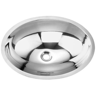 Stainless Steel Oval Undermount Bathroom Sink - MAG1400