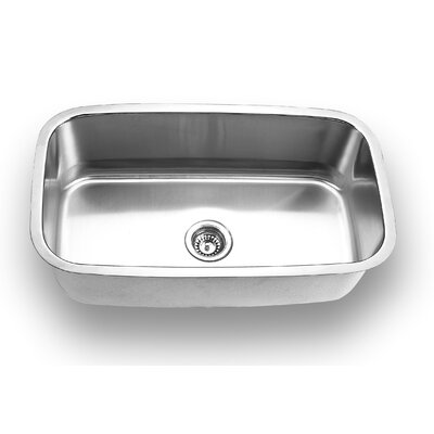 "Yosemite Home Decor 31.5"" x 18.5"" Stainless Steel Undermount Kitchen Sink"