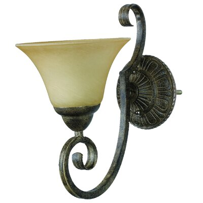 Yosemite Home Decor Mariposa One Light Wall Sconce in Tuscan Sand