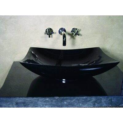 Yosemite Home Decor Cody Hand Carved Zen Cut Vessel Bathroom Sink