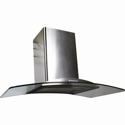 Contemporary Series Stainless Arched Glass Canopy Range Hood