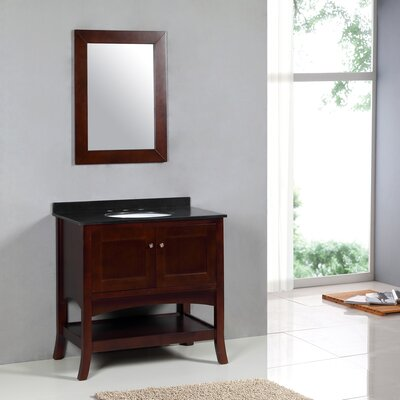 "Yosemite Home Decor Transitional 36"" Single Standard Bathroom Vanity Set"