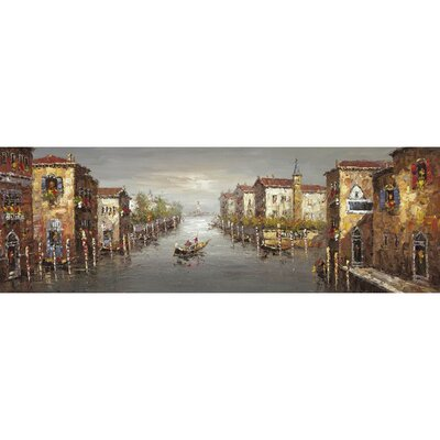 A Canal in Venice I Hand Painted Wall Art