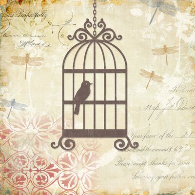 Yosemite Home Decor Caged Whimsy I Canvas Wall Art