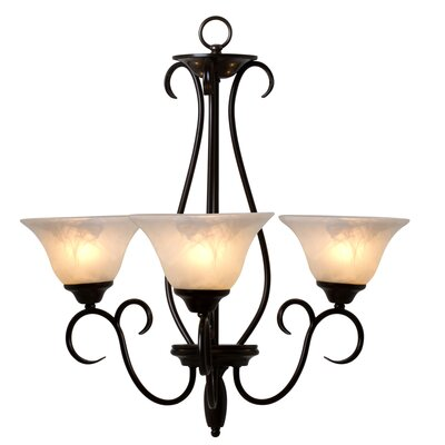 Yosemite Home Decor Illiloette Falls 3 Light Mini Chandelier