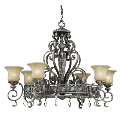 Vaxcel Bellagio Chandelier Pot Rack with 8 Light