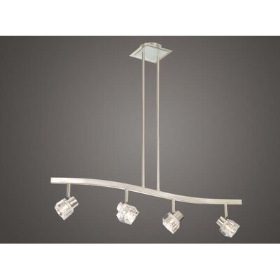 Vaxcel Spotlight 4 Light Kitchen Island Pendant