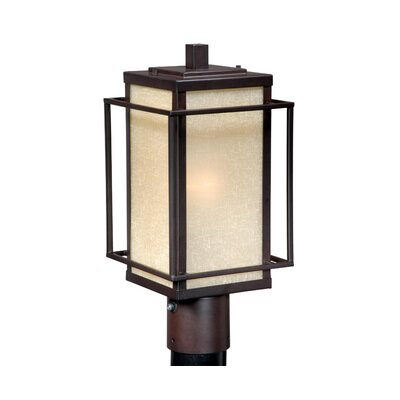 Vaxcel Robie  Outdoor Post Lantern in Espresso Bronze