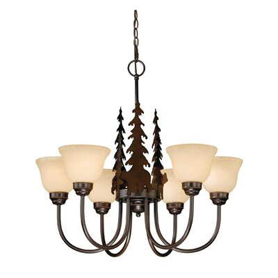 Vaxcel Bozeman 6 Light Chandelier
