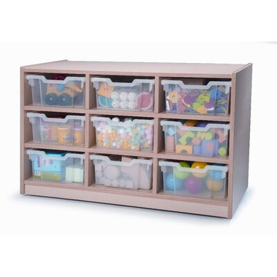 Whitney Brothers Nine Tray Melamine Storage Unit in Maple