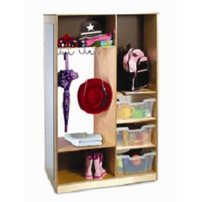 Whitney Brothers Mirror Wardrobe with Storage