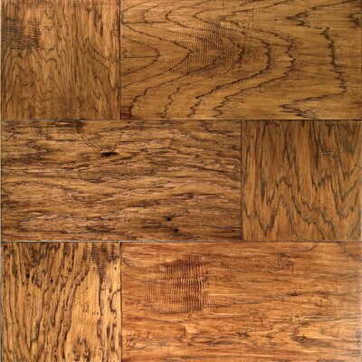 "Mannington Earthly Elements 12"" x 12"" Square Hickory in Ember"