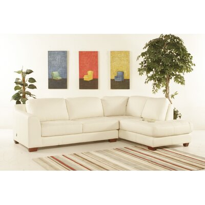 Diamond Sofa Zen Right Leather Chaise Modular Sectional