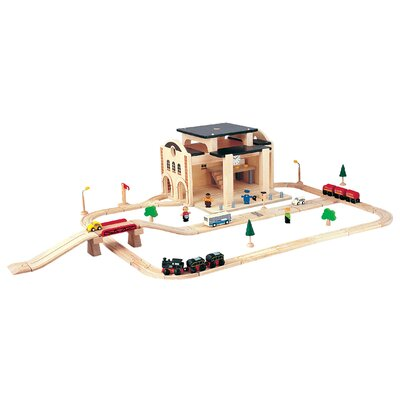 Plan Toys City Road and Rail Play Set - Railway Station