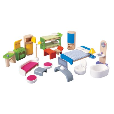 Plan Toys Dollhouse Modern Furniture Set