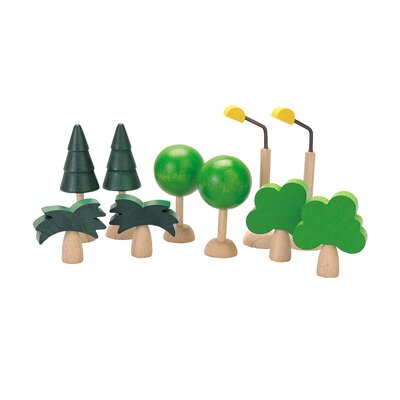 Plan Toys City Set of Trees and Lights