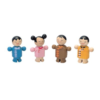 Plan Toys City Family Asian Dolls