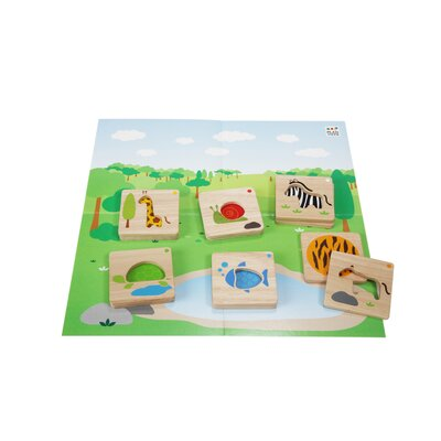 Plan Toys Animal Mix N' Match 12 Piece Set