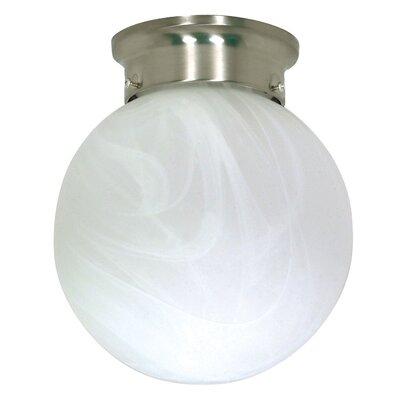 "Nuvo Lighting 9.25"" x 8"" Flush Mount in Brushed Nickel"