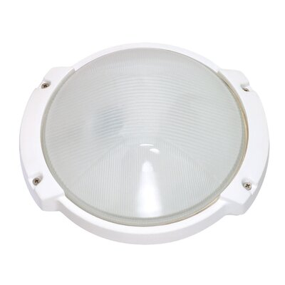 Nuvo Lighting  Oblong Round Wall Sconce in Semi Gloss White