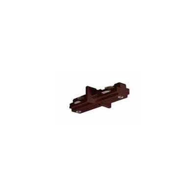 Nuvo Lighting Track Light Mini Straight Connector in Brown