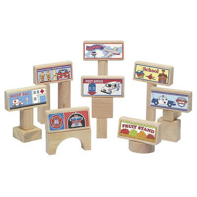 Guidecraft 8 Piece Block Toppers Set
