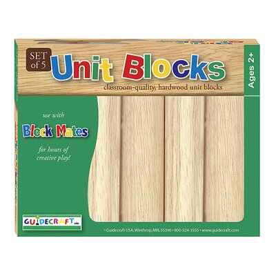 Guidecraft 5 Piece Hardwood Unit Block Set