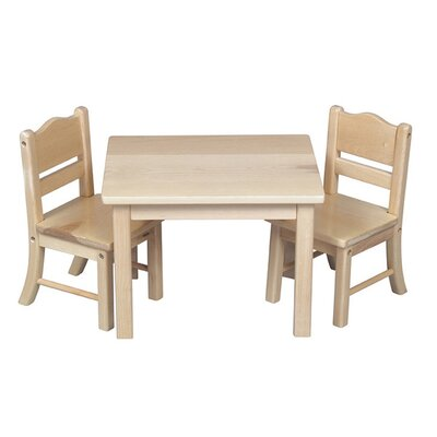 Guidecraft Doll Table and Chair Set in Natural