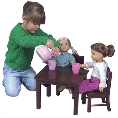 Guidecraft Doll Table and Chair Set in Espresso