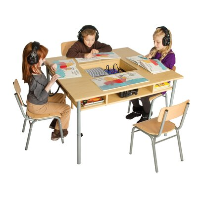 Guidecraft Audio Center Kids Writing Table