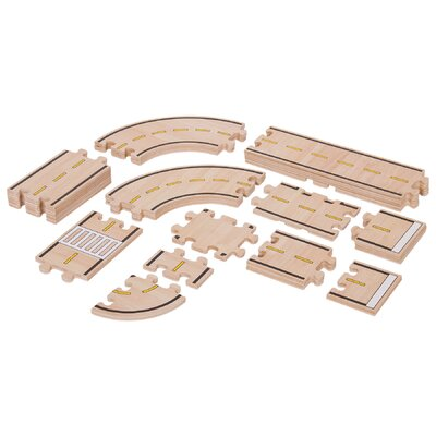 Guidecraft 42 Piece Roadway Set