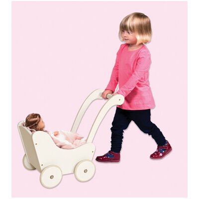 Guidecraft Doll Buggy in White