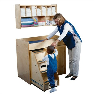 Guidecraft Diaper Shack Changing Table Shelf Unit