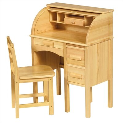 "Guidecraft Jr. Roll-Top 27"" W Writing Desk"