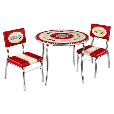 Retro Racers Kids' 3 Piece Table and Chair Set