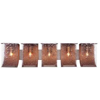 Varaluz Rain Recycled 5 Light Bath Vanity Light