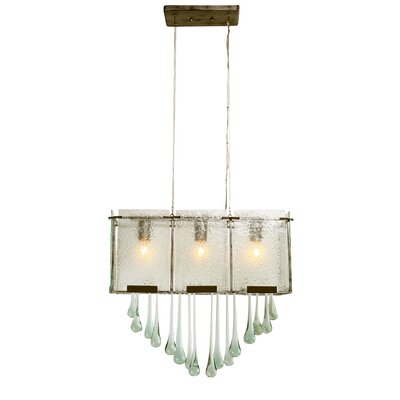 Rain Drops 3 Light Linear Pendant